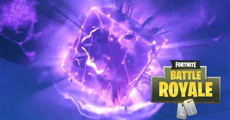 purple cube  fortnite  cracked open