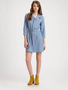 A.p.c. Denim Shirtdress in Blue | Lyst