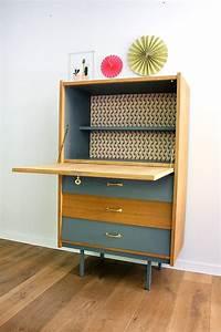 Bureau Secretaire Vintage : secr taire vintage l on les jolis meubles ~ Teatrodelosmanantiales.com Idées de Décoration