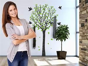 Baum Als Garderobe : wandtattoo garderoben mit edelstahl wandhaken ~ Buech-reservation.com Haus und Dekorationen
