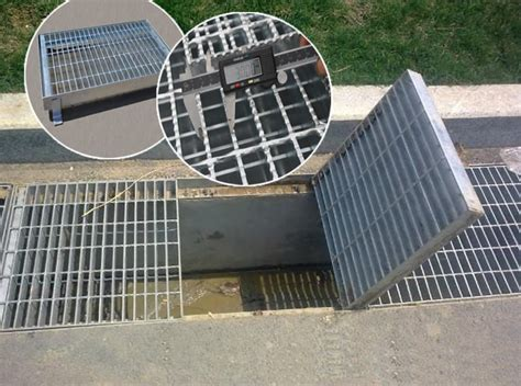 non skid steel grate drain covers trench drain cover grating
