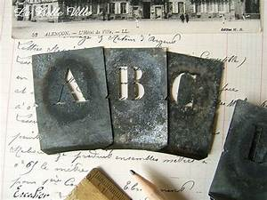 17 best ideas about alphabet stencils on pinterest With small zinc letters