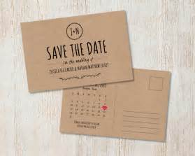 wedding save the date postcards rustic wedding save the date kraft save the date rustic save the date postcard country