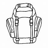 Backpack Hiking Coloring Drawing Ready Tocolor Backpacks Getdrawings Colouring Place Sheets sketch template