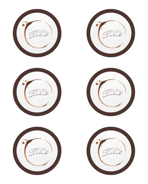 diy coffee scrub   printable label  cottage