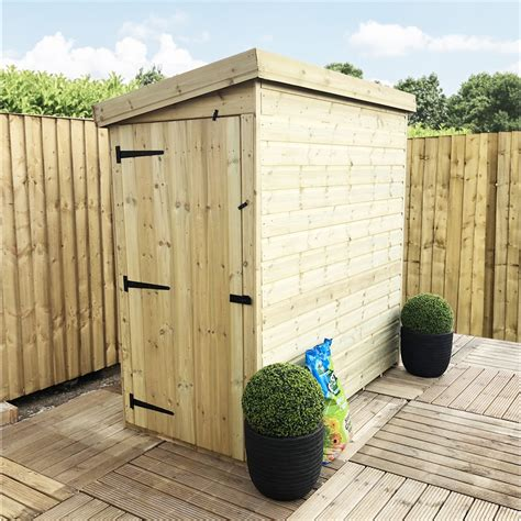 6 x 3 shed 3 x 6 pressure treated pent shed