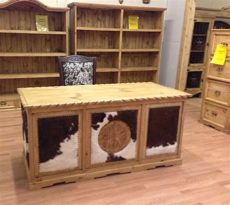 Cowhide Desk by Cowhide Desk From Rustic Furniture Depot Crafts Diy