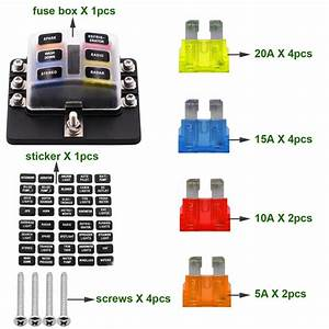 1 In 6 Out Auto Fuse Box Waterproof Blade Fuse Block Box