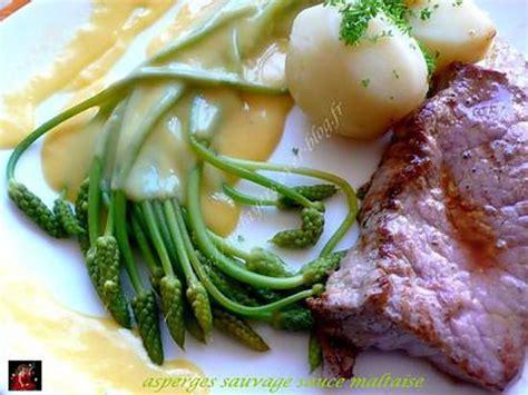 cuisine sauvage recettes recette d 39 asperges sauvage sauce maltaise