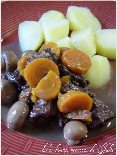 cuisiner un bourguignon mon boeuf bourguignon les bonnes recettes de julie