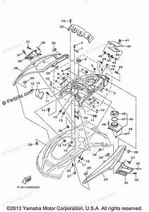 Yamaha Waverunner 2009 Oem Parts Diagram For Engine Hatch