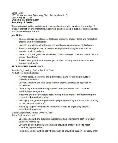 Product Design Engineer Resume Pdf by Marketing Resume Exles 50 Free Word Pdf Documents