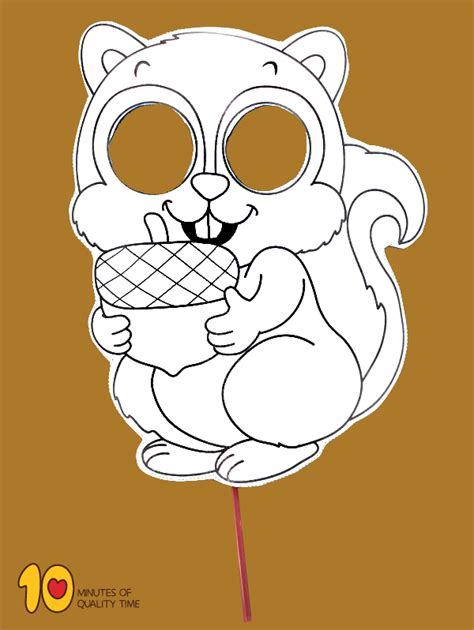squirrel printable mask  minutes  quality time