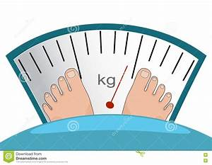 Fat Man Or Woman Standing On Weight Scale Vector Heavy ...
