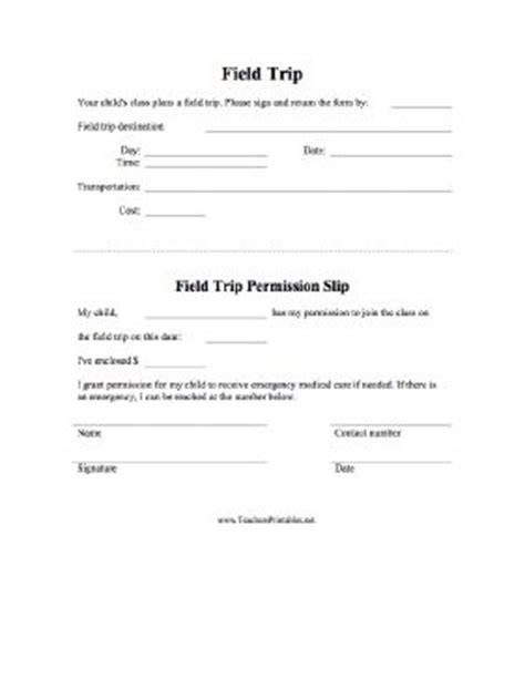 field trip permission form    teacher writes