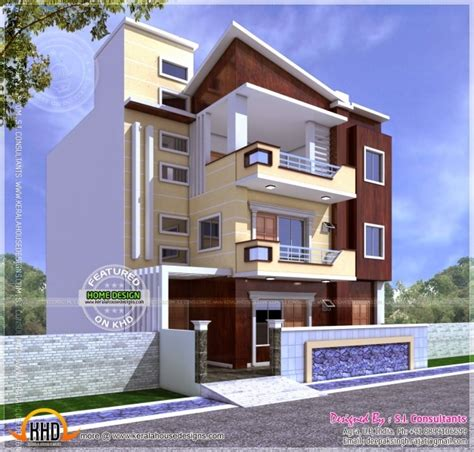 Front Elevation Of Indian House 30x50 Site - House Floor Plans