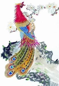 Chinese Phoenix Painting phoenix 2345064, 50cm x 70cm(19 ...