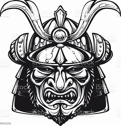 Samurai Tattoo Mask Vector Clipart Clip Illustration