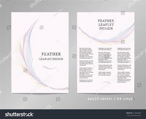 3 Column Brochure Template by Threecolumn Sided Vector Leaflet Brochure Stock