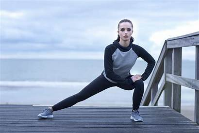 Side Lunge Stretches Knee Runner Runners Warm