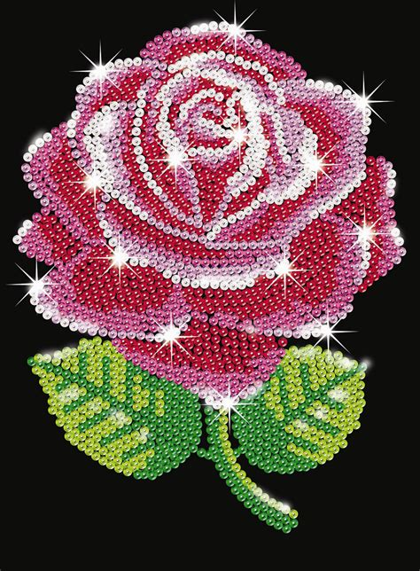 sequin art red rose sa ksg hobbies