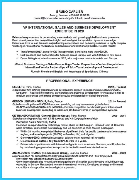 best words for the best business development resume and