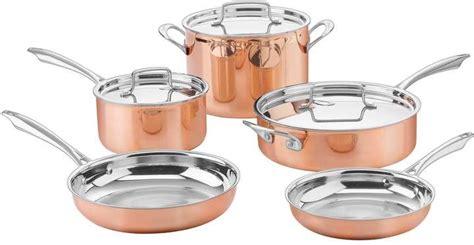 cuisinart copper collection  pc tri ply cookware set cookware set stainless steel cookware