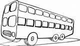 Bus Coloring Pages Clipart Printable Buses Windows Sheets Clip Disimpan Dari sketch template