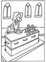 Funeral Coloring Pages Deceased Holiday Picgifs Kleurplaten Dood Begrafenis Coloringpages1001 Van Gifs November sketch template