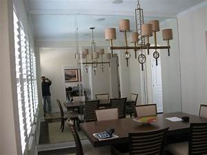 Mirror Wall Traditional Dining Room Tampa by