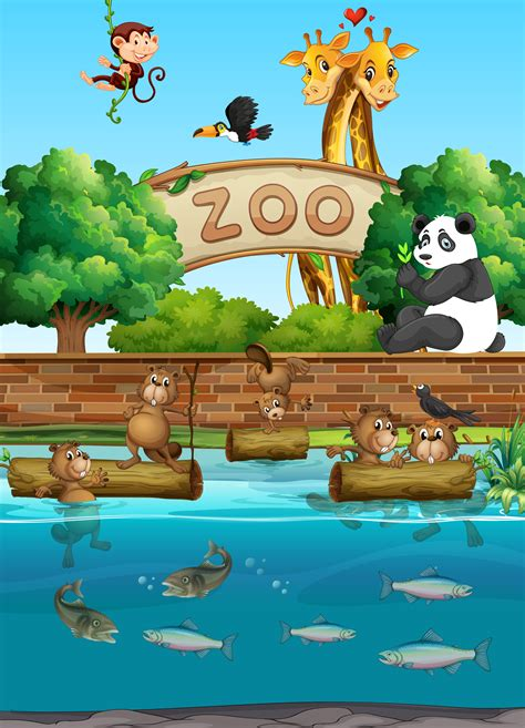 scene   zoo   wild animals
