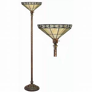 tiffany style mission style white torchiere overstock With overstock tiffany floor lamp