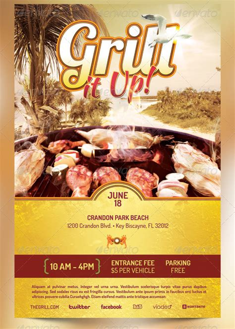 barbecue flyer templates seraphimchris graphic