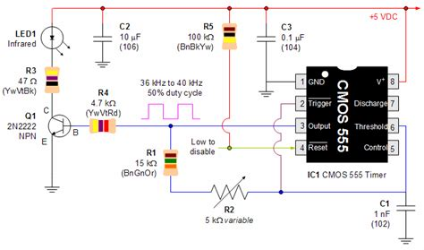Infrared Emitter From Cmos Robot Room