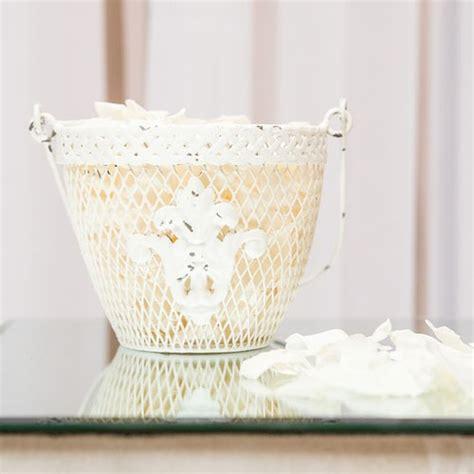 shabby chic baskets shabby chic flower basket
