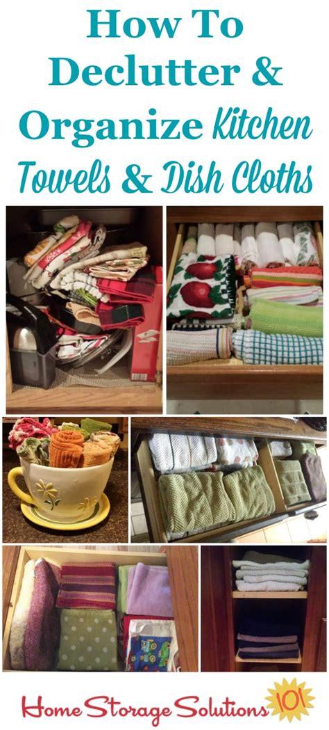kitchen organization solutions declutter kitchen towels dish cloths 15 minute mission 2365