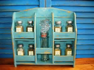 Vintage Wooden Spice Rack