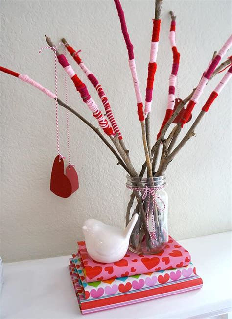 valentines day craft centerpiece tutorial popsicle blog