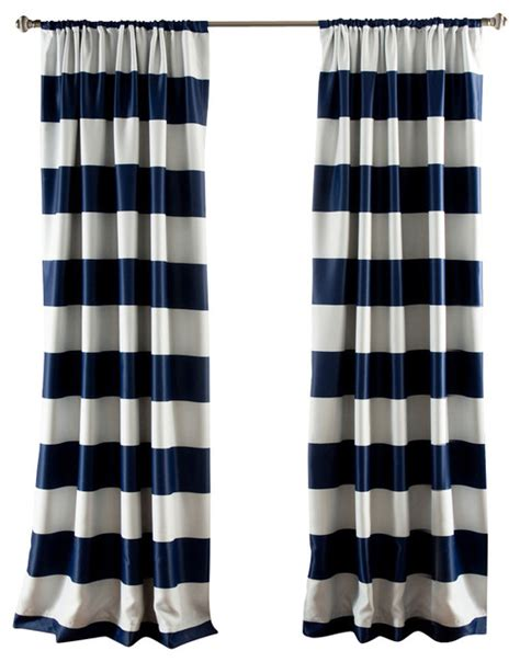 navy striped curtain panels stripe blackout navy window curtain contemporary