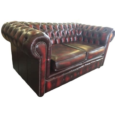 chesterfield vintage sofa chesterfield antique oxblood genuine leather two