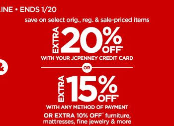 For each dollar you spend at jc penney, you earn 1 point. JC Penney: Extra 25% off Red Zone Clearance for a total savings of 60-75%! | Milled