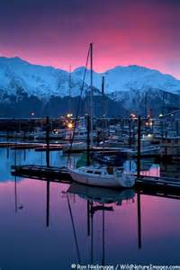 Sunset Harbor Seward Alaska