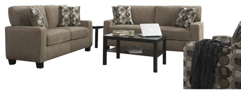 Transitional Living Room Furniture Sets by Serta 2 Santa Sofa Set In Platinum Fabric