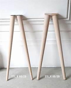 Pied De Table Bois : pieds compas pour meuble design en bois style scandinave ~ Melissatoandfro.com Idées de Décoration