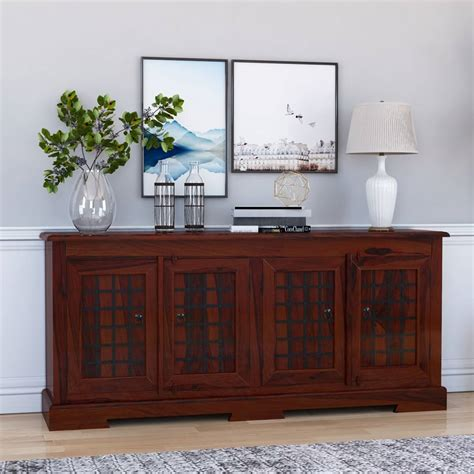 Large Buffet Cabinet by Solid Wood Rustic Large Buffet Cabinet