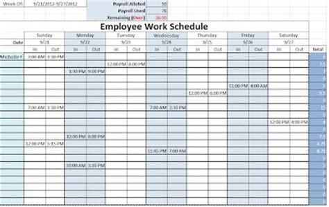 employee work schedule schedule templates templates