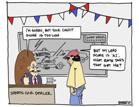 Eloqua Lead Scoring At The Car Dealership Cartoon