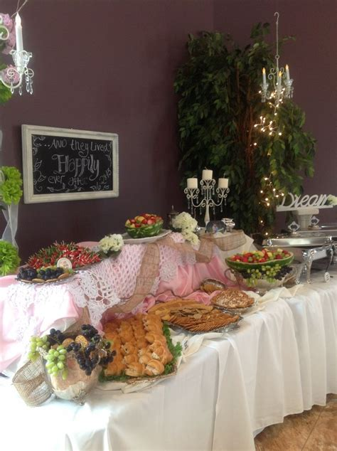 cuisine shabby chic shabby chic reception food table sassy events showers