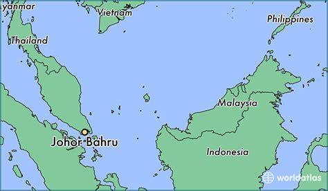 johor bahru malaysia johor bahru johor map