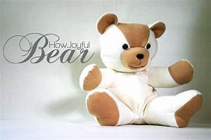 make your own teddy bear template - teddy bear tutorial and pattern 5